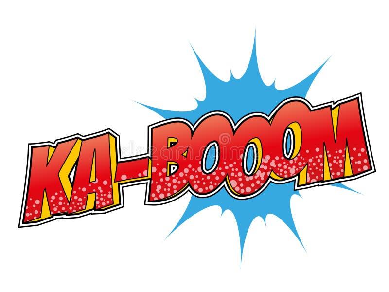 Esplosione del fumetto di Pop art illustrazione di stock