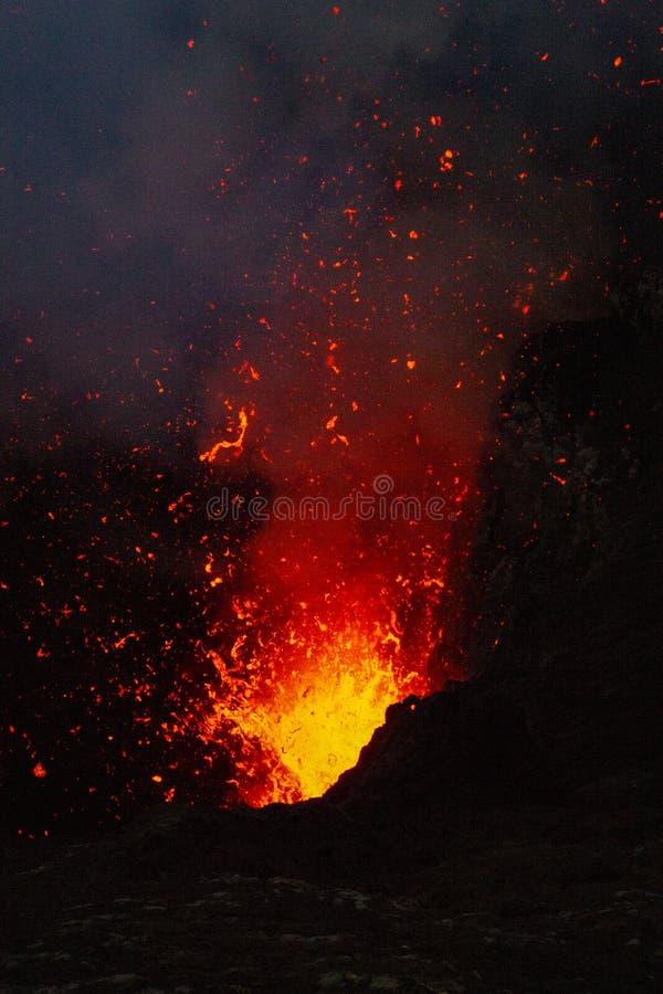 Esplosione del fuoco fotografia stock