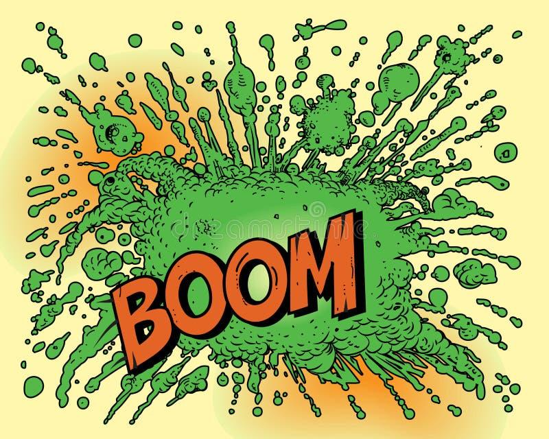 Esplosione del libro di fumetti royalty illustrazione gratis
