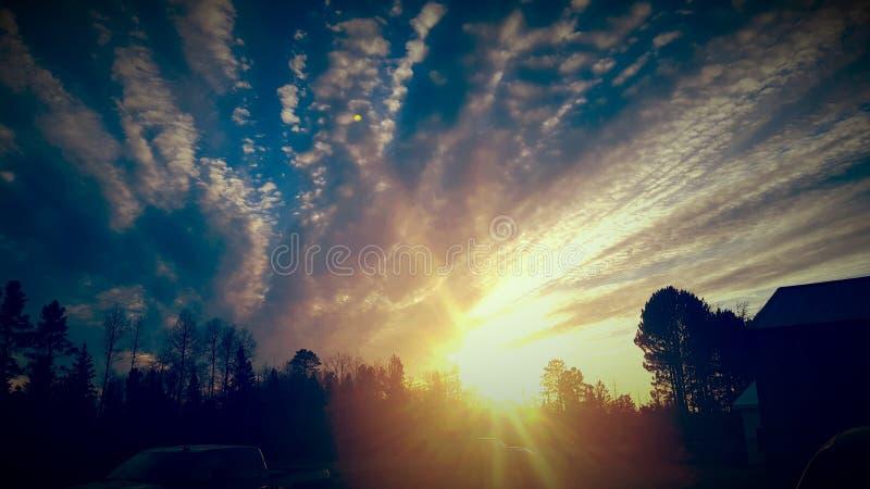Esplosione del Sun fotografie stock libere da diritti