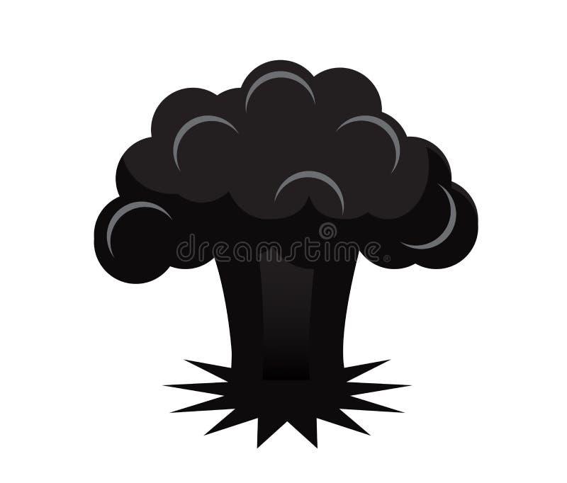 Esplosione della bomba atomica royalty illustrazione gratis