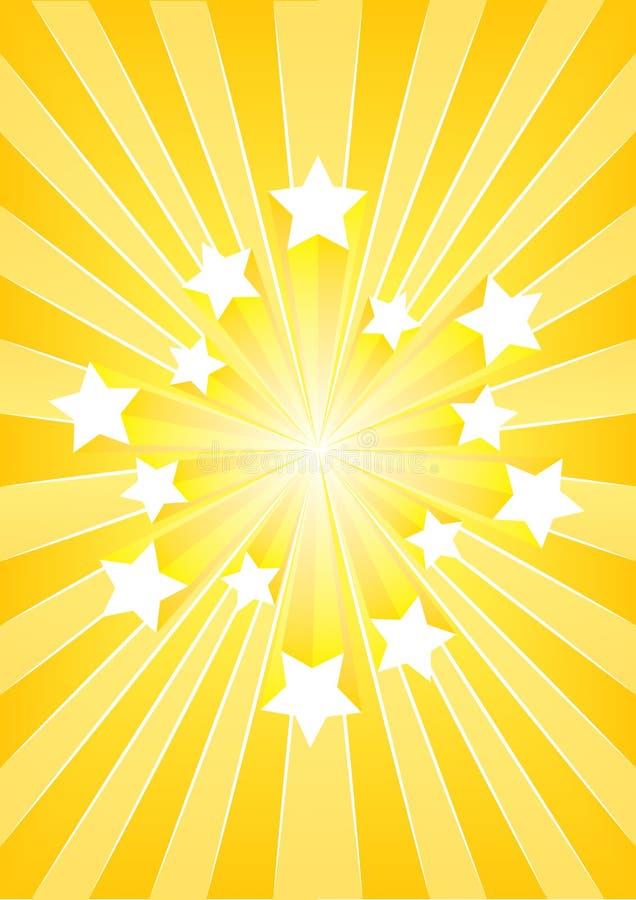 Esplosione della stella illustrazione di stock