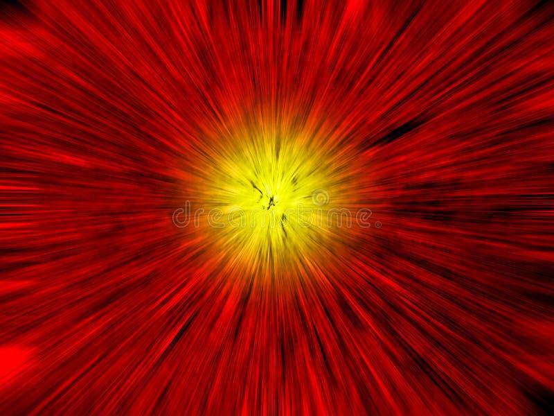 Esplosione dello spazio illustrazione vettoriale