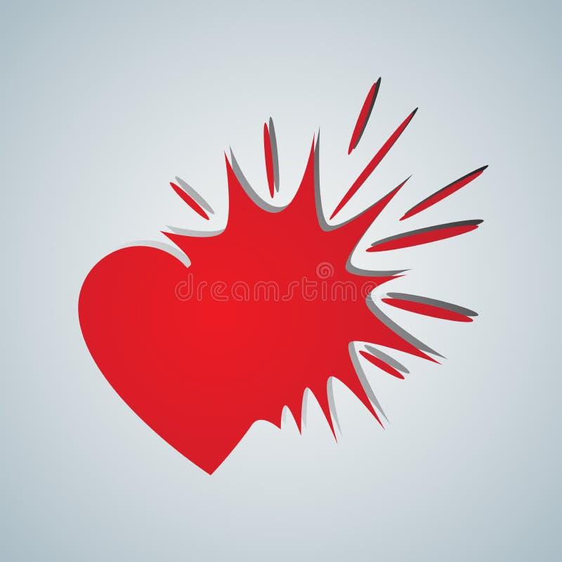 Esplosione di amore illustrazione di stock