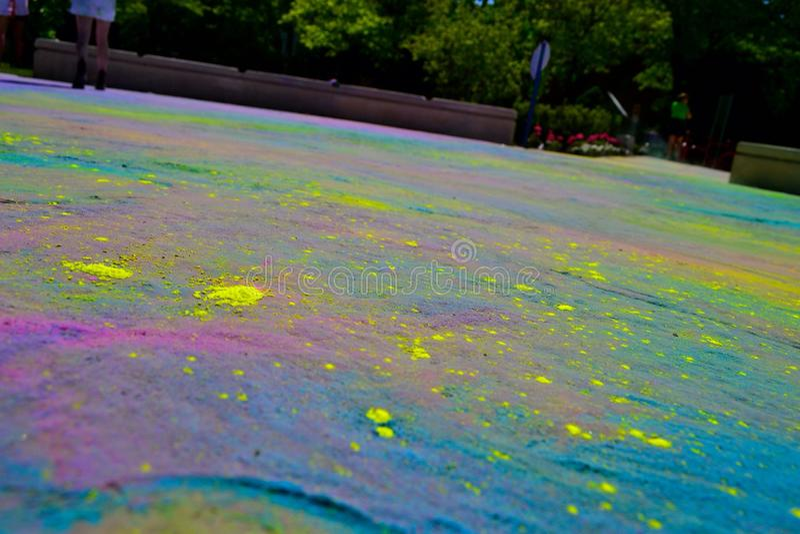 Esplosione di colore fotografia stock