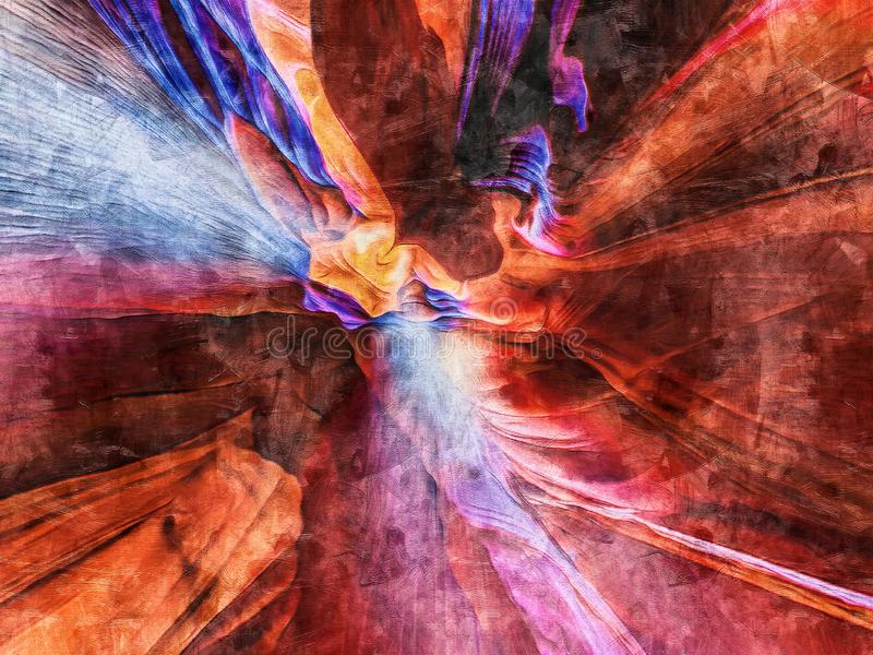 Esplosione Di Colori Che Dipingono Su Tela immagine stock libera da diritti