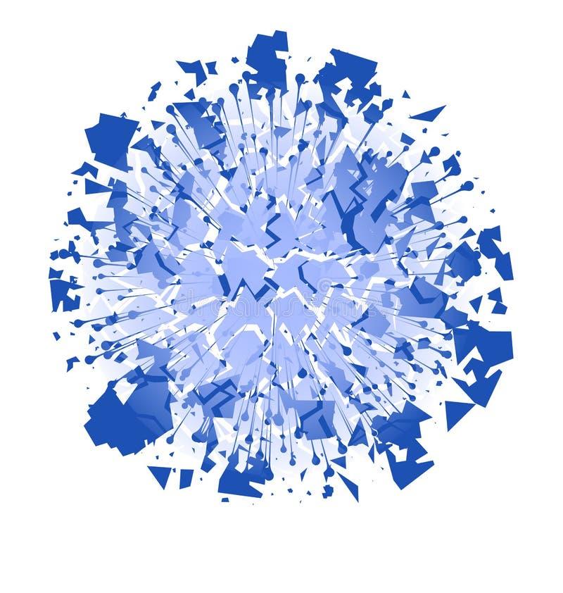 Esplosione e particella astratte di scoppio di potere di energia sopra illustrazione di stock