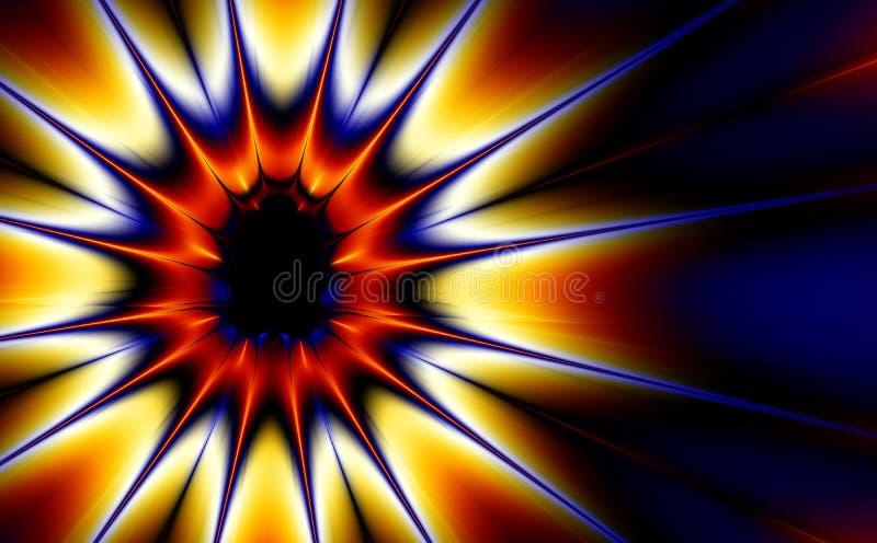 Esplosione (fractal30c) illustrazione vettoriale
