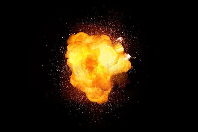 Esplosione luminosa della bomba ardente illustrazione vettoriale