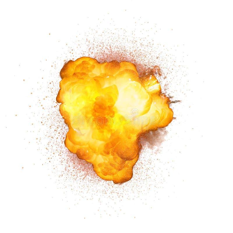 Esplosione luminosa della bomba realistica con le scintille royalty illustrazione gratis