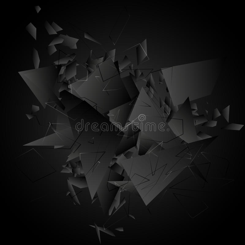 Esplosione nera astratta Illustrazione di vettore royalty illustrazione gratis