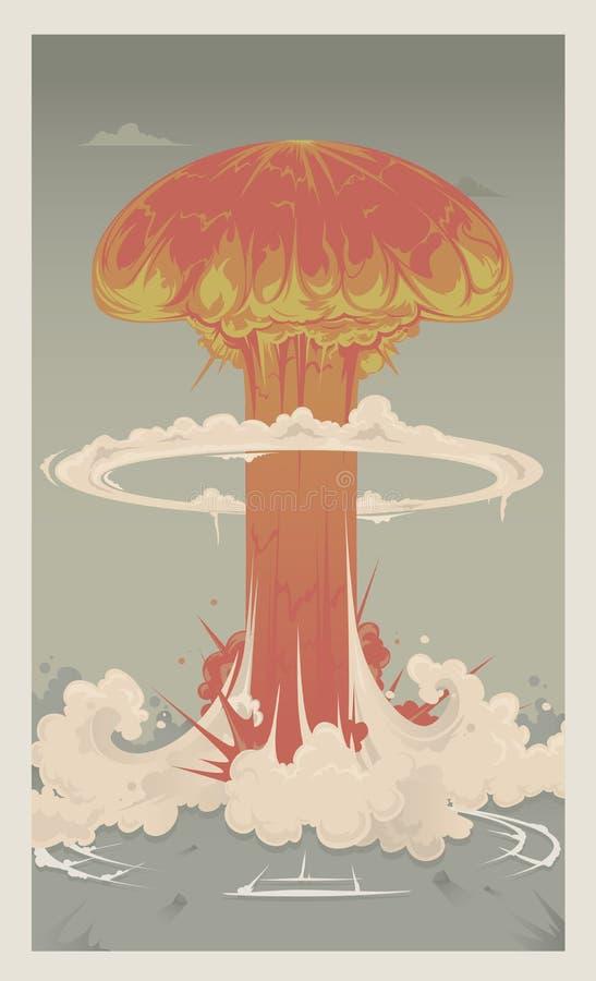 Esplosione nucleare royalty illustrazione gratis