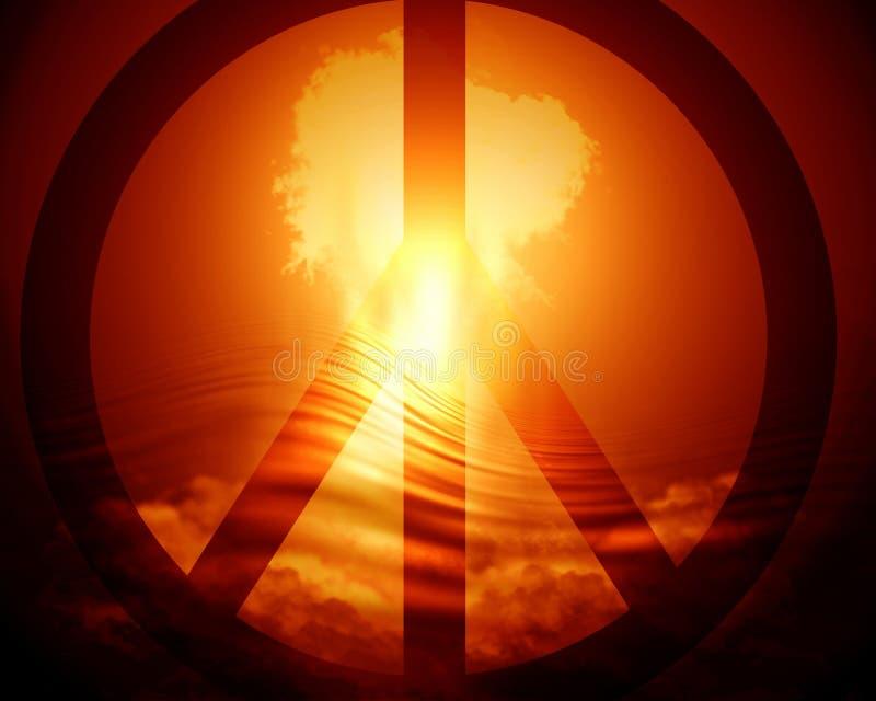 Esplosione nucleare luminosa illustrazione vettoriale