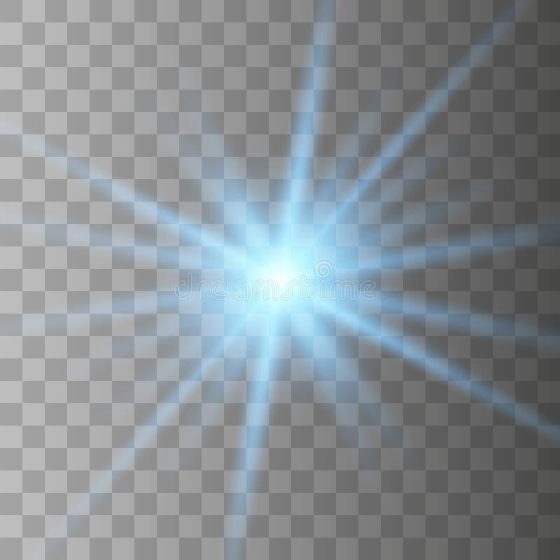 Esplosione scoppiata leggera d'ardore blu illustrazione vettoriale