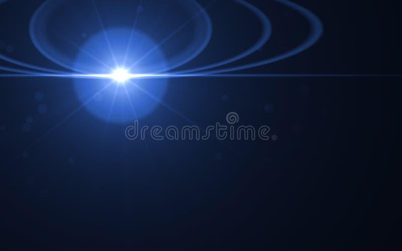 Esplosione solare astratta con il fondo digitale del chiarore della lente D astratta illustrazione vettoriale
