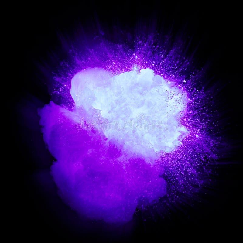 Esplosione ultravioletta realistica con le scintille ed il fumo royalty illustrazione gratis