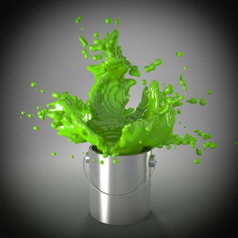 Esplosione verde illustrazione vettoriale