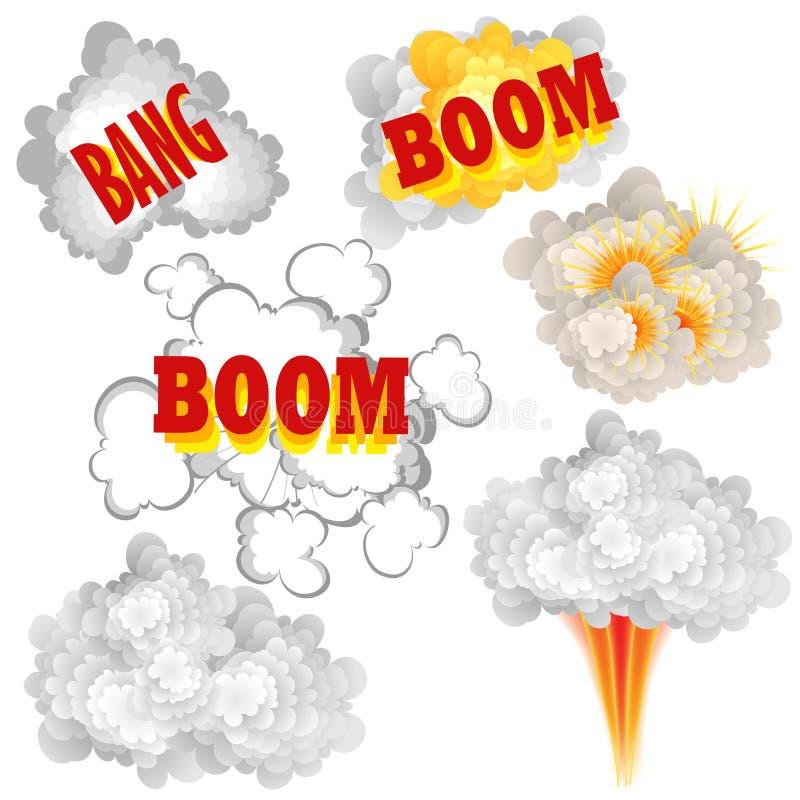 Esplosioni del libro di fumetti illustrazione vettoriale