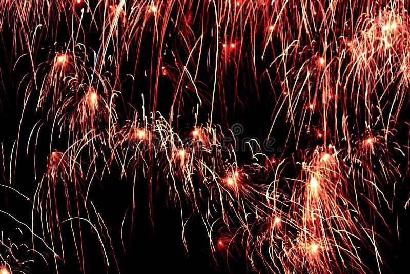 Esplosioni di indicatore luminoso in cielo notturno #2 immagine stock