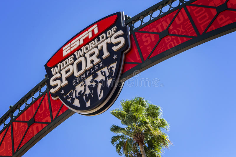 ESPN, Wide World of Sports, Florida, USA, 4 Jan 2016. Entrance to the stadium stock images