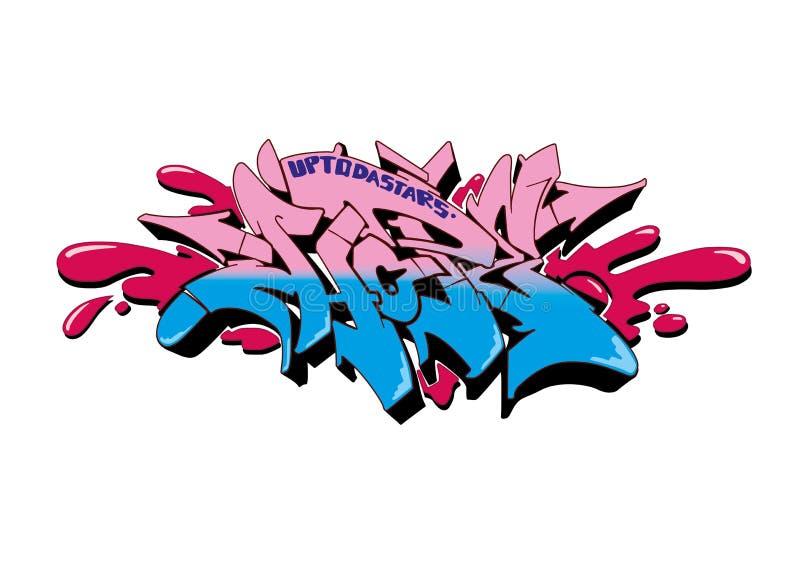 Espoir de graffiti illustration de vecteur