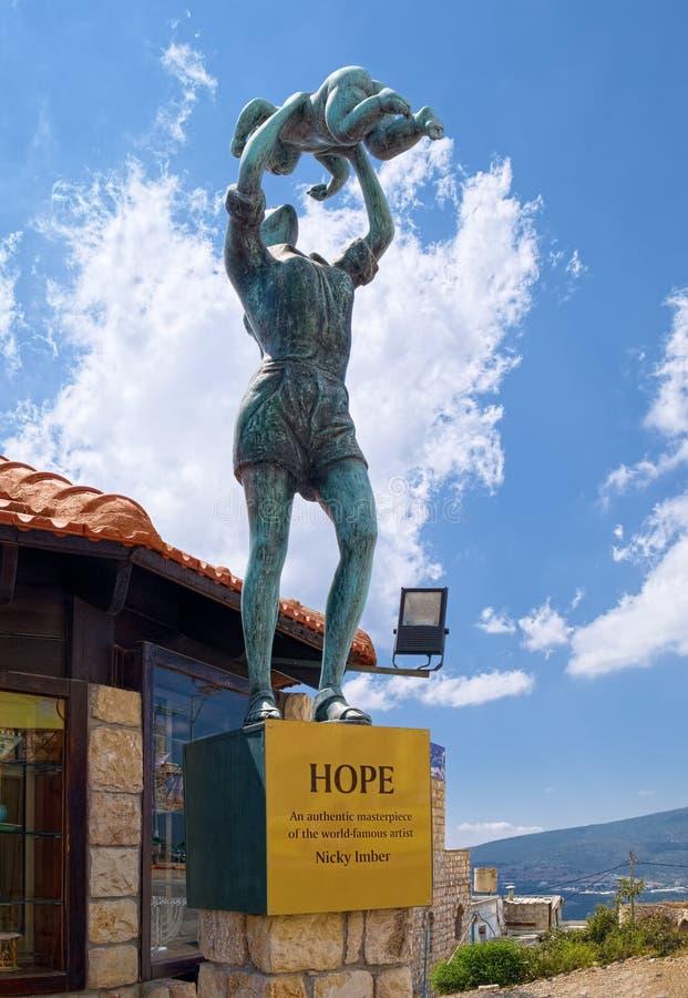 Espoir, statue par Nicky Imber images libres de droits