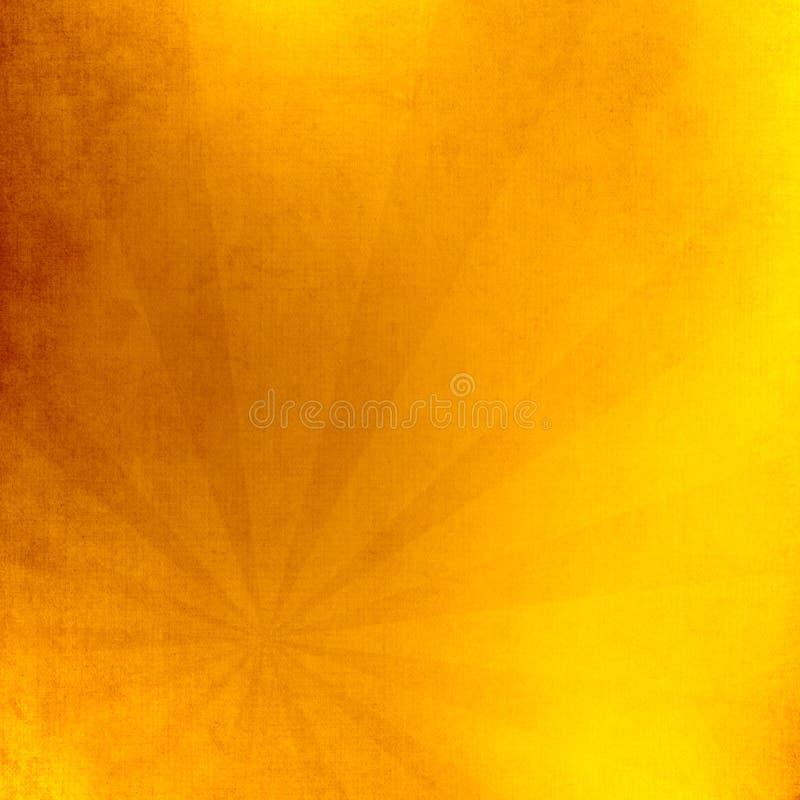 Esponga al sole con l'illustrazione dei raggi, vecchia carta con le macchie illustrazione vettoriale