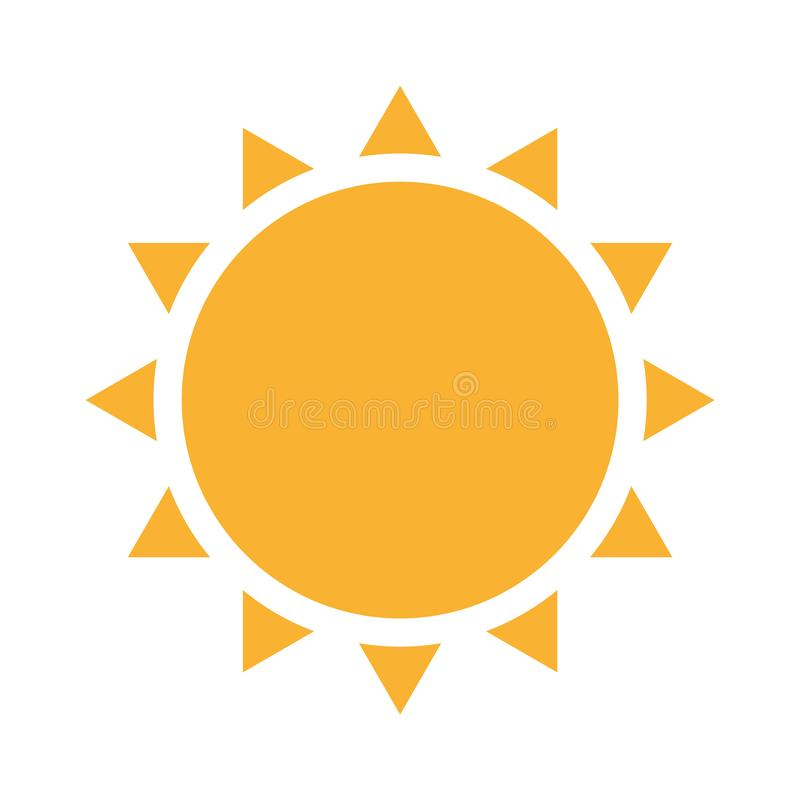 Esponga al sole con le luci Vettore eps10 dell'icona del sole di estate il sole giallo con i raggi firma royalty illustrazione gratis
