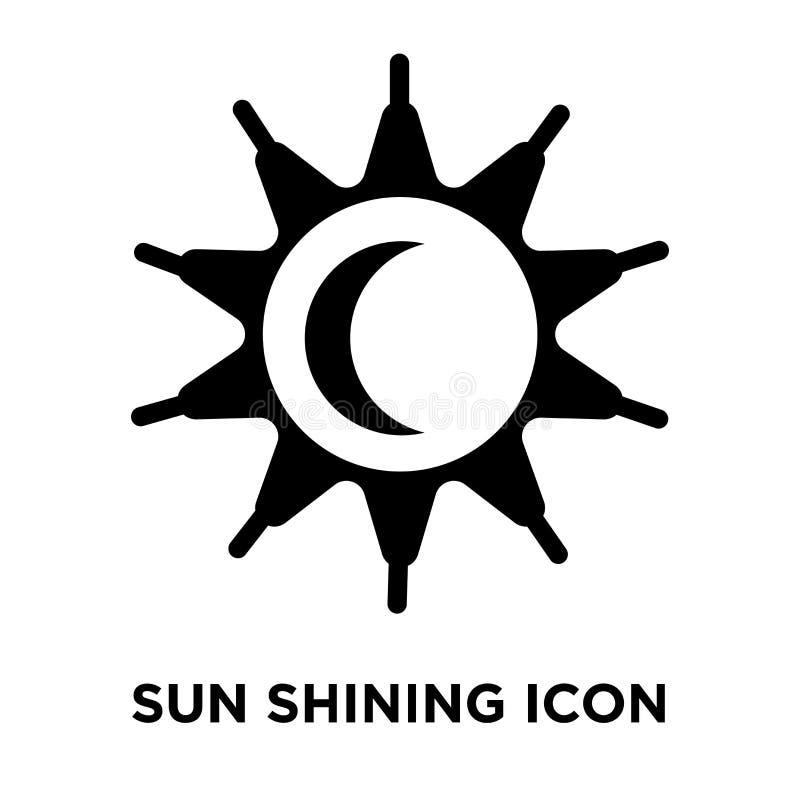 Esponga al sole il vettore brillante dell'icona isolato su fondo bianco, conce di logo royalty illustrazione gratis