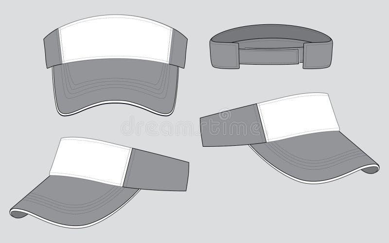 Esponga al sole il vettore di progettazione della visiera: Bianco/grigio illustrazione di stock