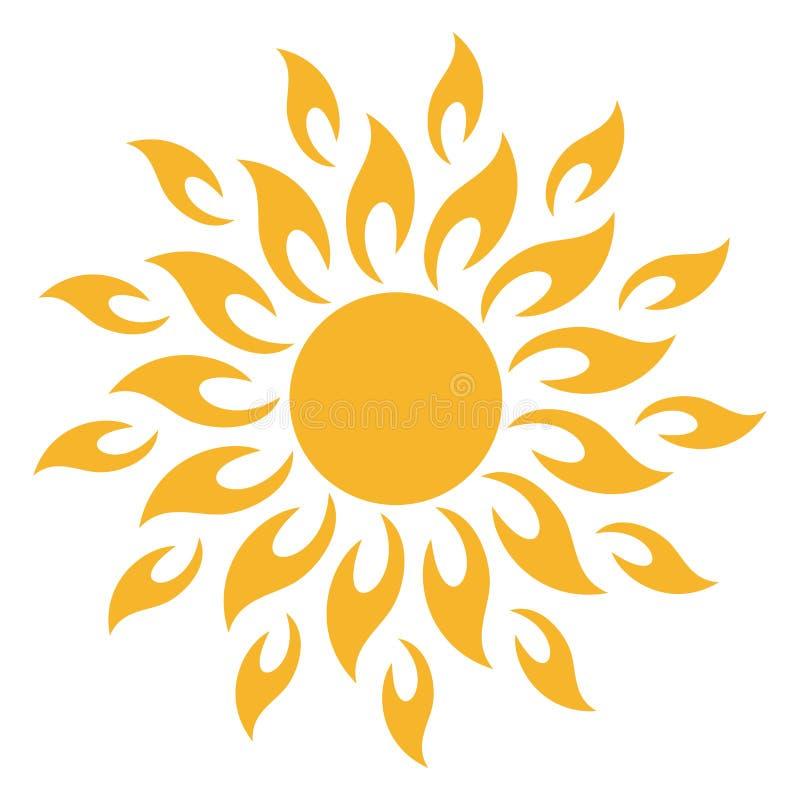 Esponga al sole l'icona tribale come vettore su un fondo isolato illustrazione vettoriale