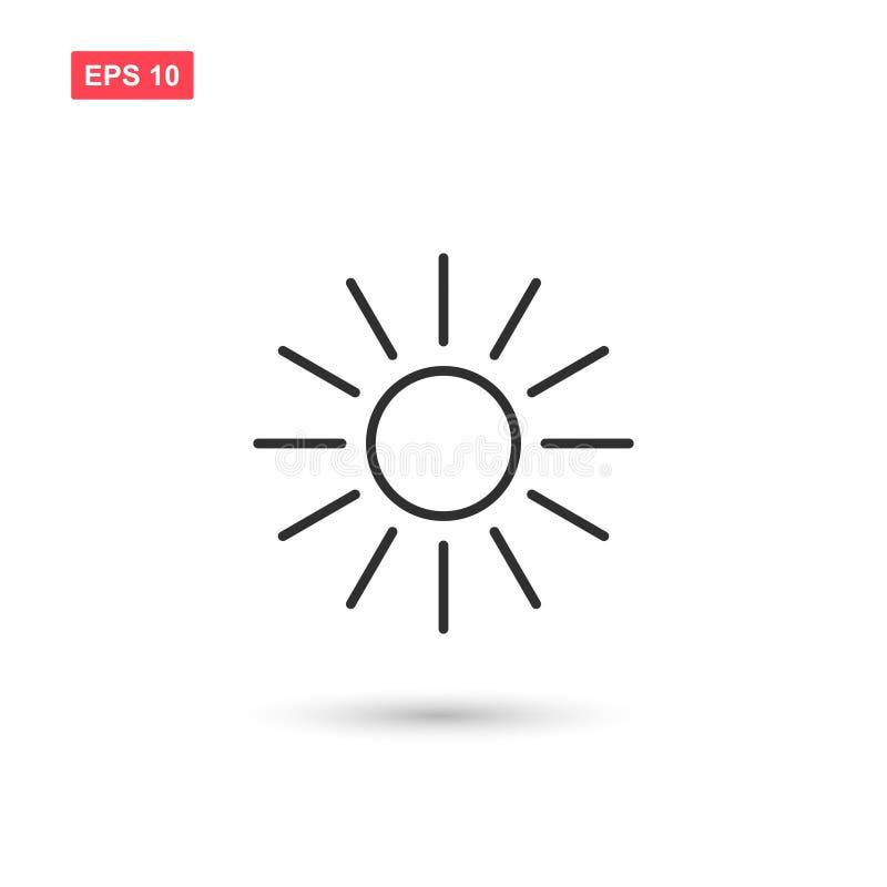 Esponga al sole la progettazione dell'icona di vettore isolata illustrazione di stock