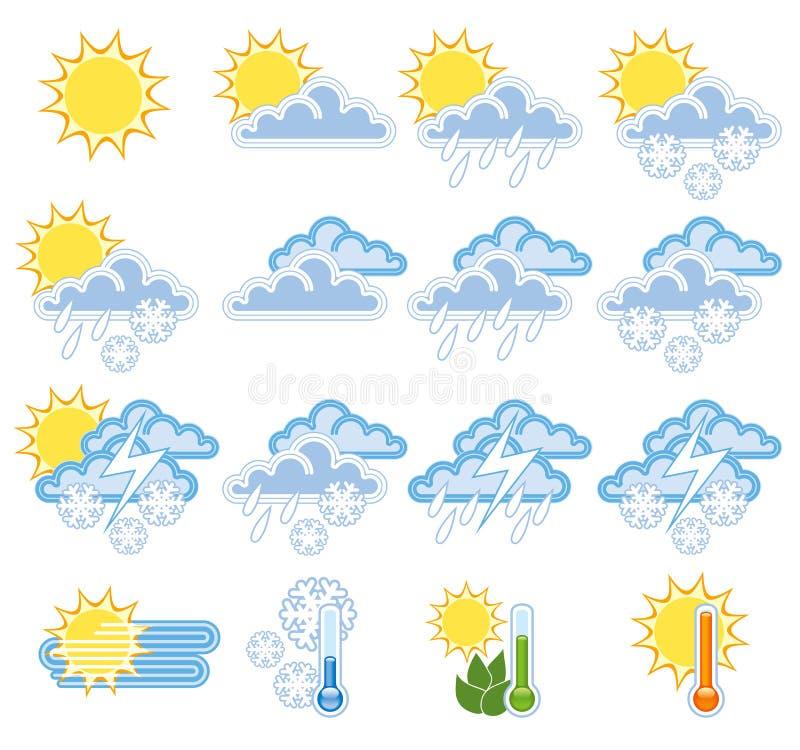 Esponga all'aria le icone illustrazione vettoriale