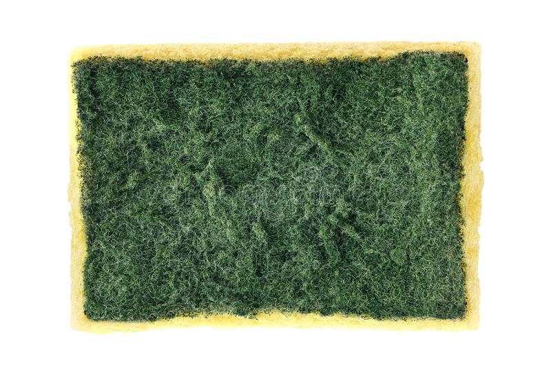 Esponja, viejo lavado de la esponja, esponja que se lava del plato, limpieza amarilla absorbente de las esponjas de la fibra aisl imagenes de archivo