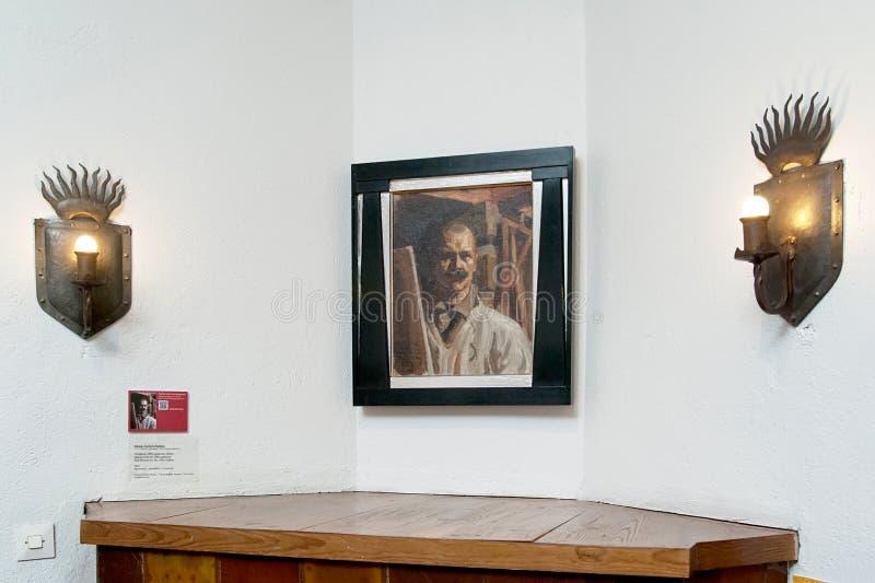 Espoo finland L'intérieur de musée d'Akseli Gallen-Kallela photos stock