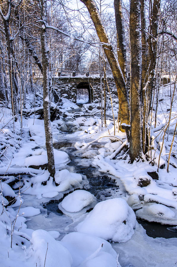 Espoonkartano en hiver photographie stock libre de droits
