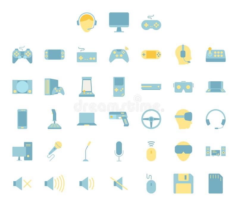 Esport и набор значка дизайна видеоигры иллюстрация вектора