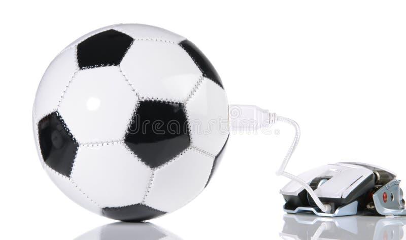 ESport Concept - Soccer Ball. With USB royalty free stock photos