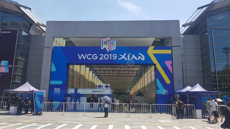 The eSport Gaming Olympic Game event `World Cyber Games` WCG 2019 in Xi`an, China.  royalty free stock photography