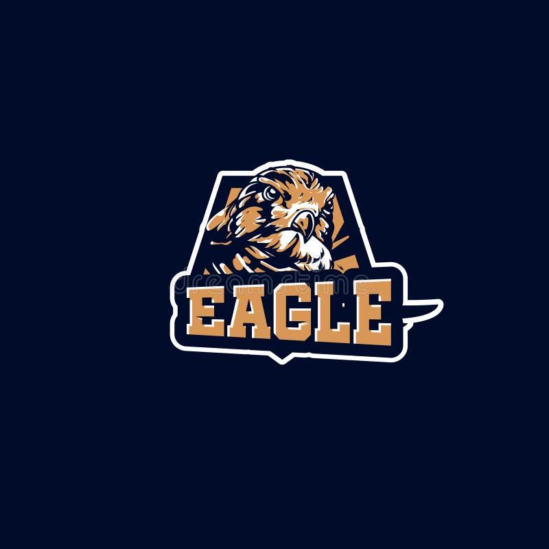 Esport Logo Baby Eagle Football Club ilustração royalty free