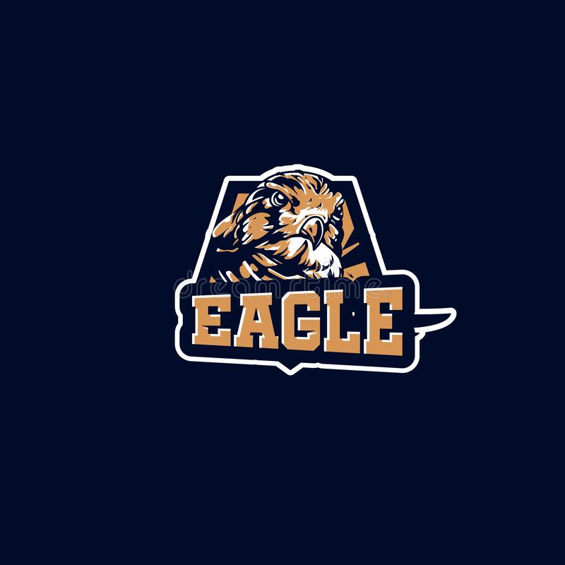 Esport logo dziecka Eagle futbolu klub zdjęcia stock