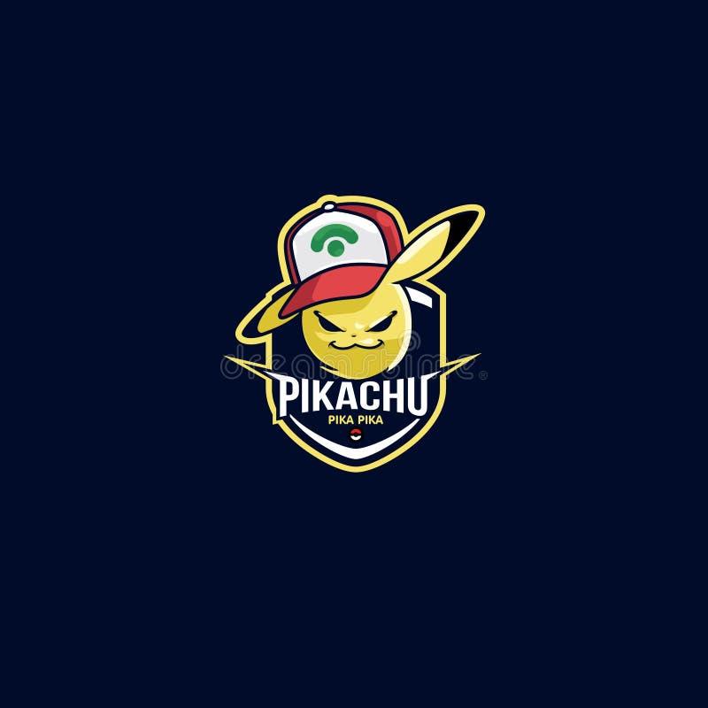 Esport Logo Pikachu Pokemon Football Club ilustração royalty free