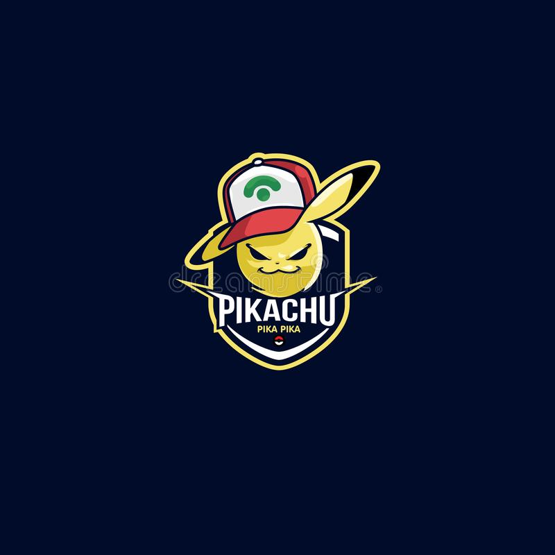 Esport logo Pikachu Pokemon futbolu klub obraz stock