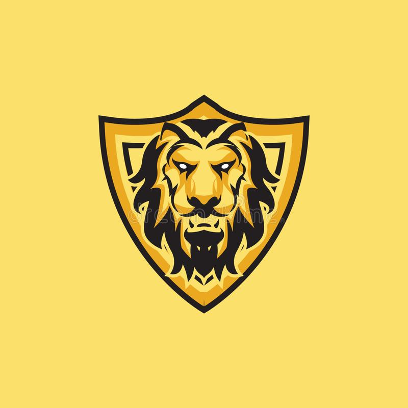 Esport lwa maskotki hazardu logo ilustracja wektor
