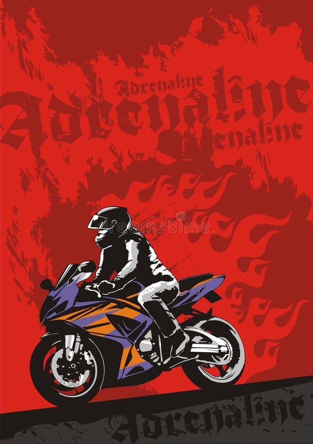 Esporte-bicicleta ilustração stock