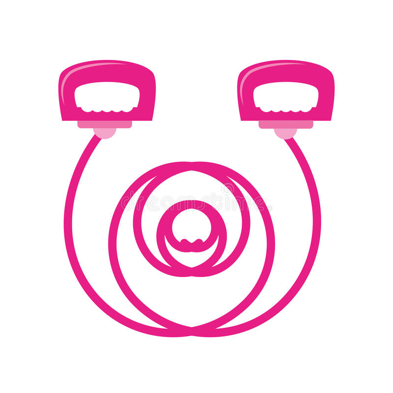 Esporte cor-de-rosa do punho da corda de salto ilustração stock