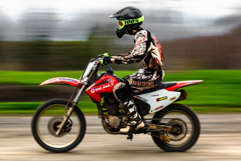 Esporte da raça do velomotor imagens de stock royalty free