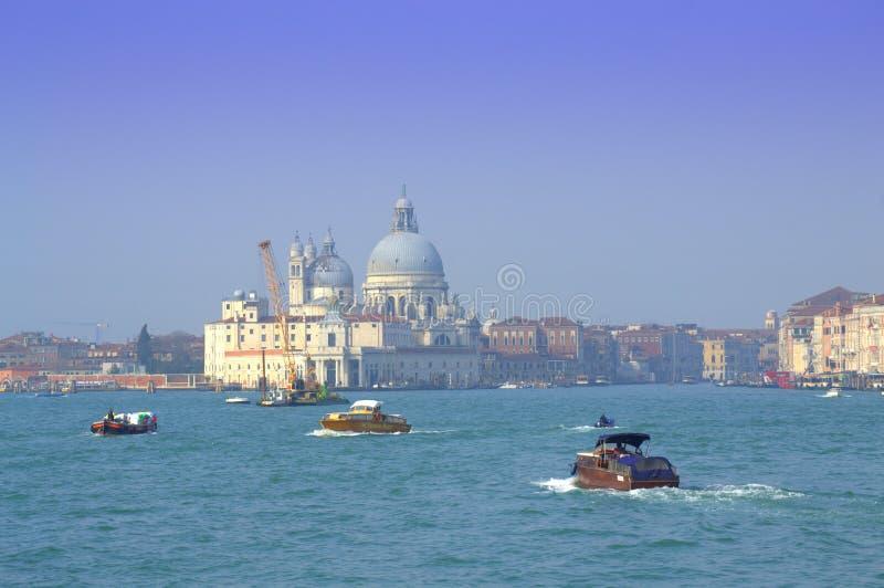 Esporte de barco na lagoa de Veneza fotografia de stock