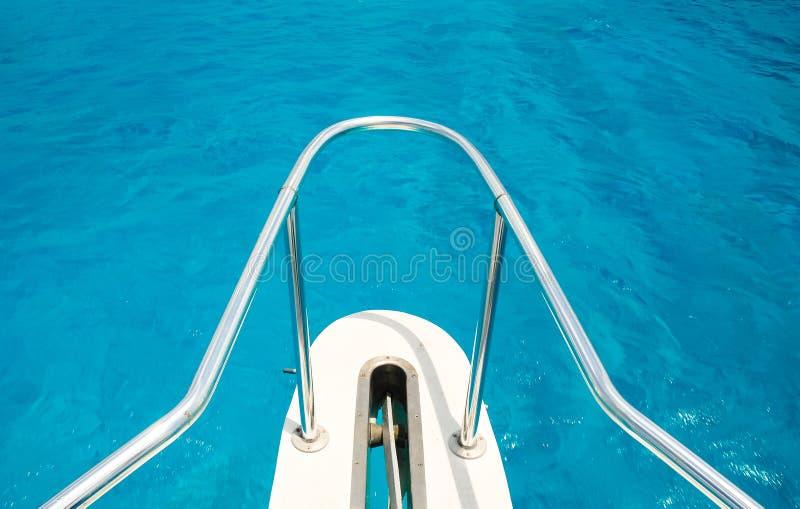 Esporte de barco no Caribes imagens de stock
