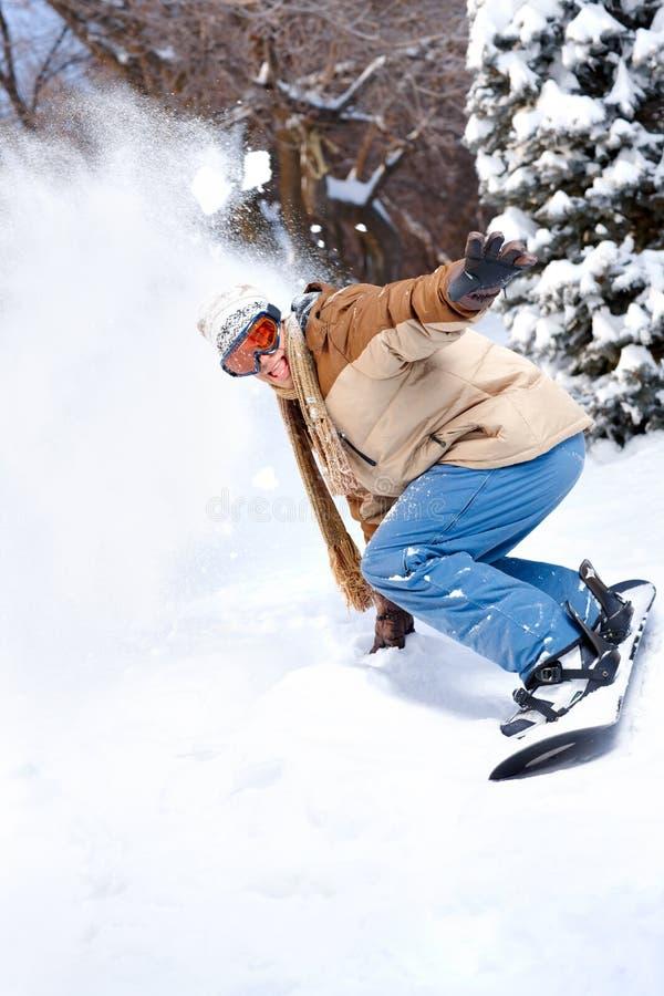 Esporte de inverno fotografia de stock